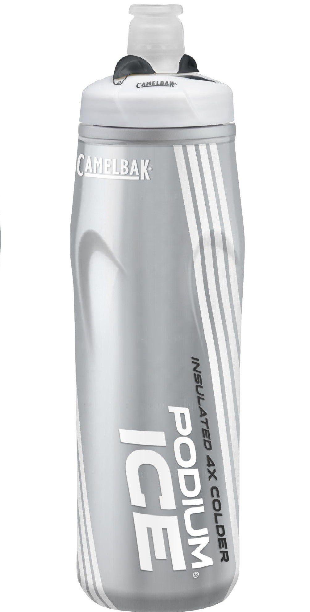 Garrafa Squeeze Camelbak Podium Ice 4x Mais Térmica 620 Ml Cinza/Preta