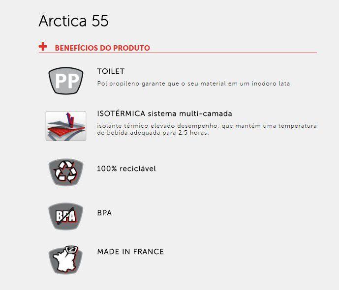 Garrafa Caramanhola Térmica Bike Zefal Arctica 550ml