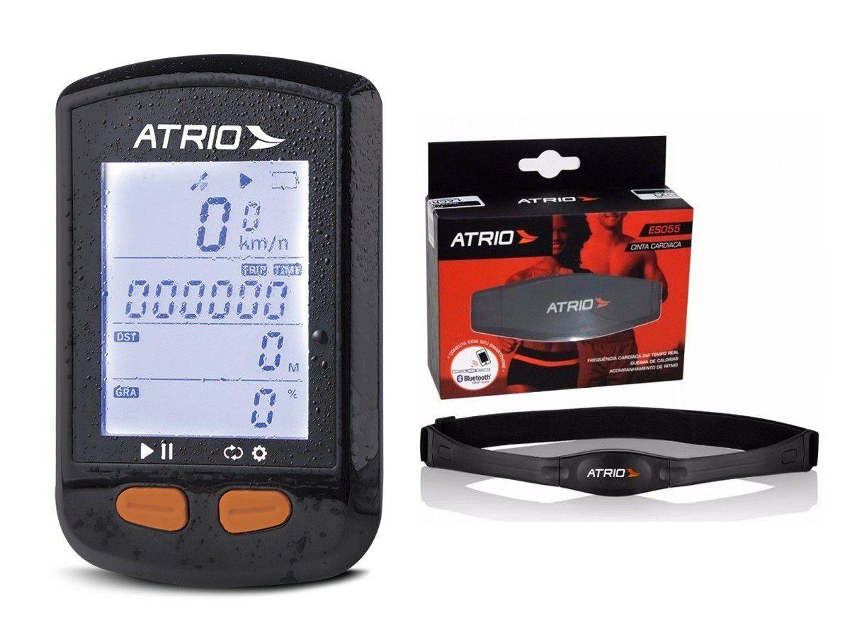 Gps Atrio Steel Bi 132 Bluetooth + Cadência + Cinta Cardíaca + Suporte