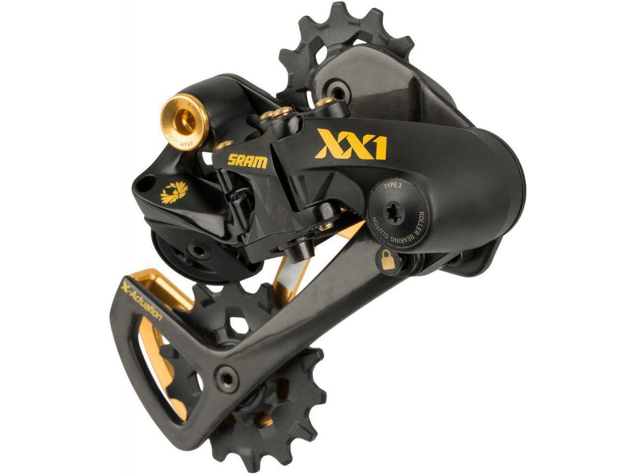Grupo Sram XX1 Eagle Gold 12V - Trocador + Câmbio Traseiro + Cassete