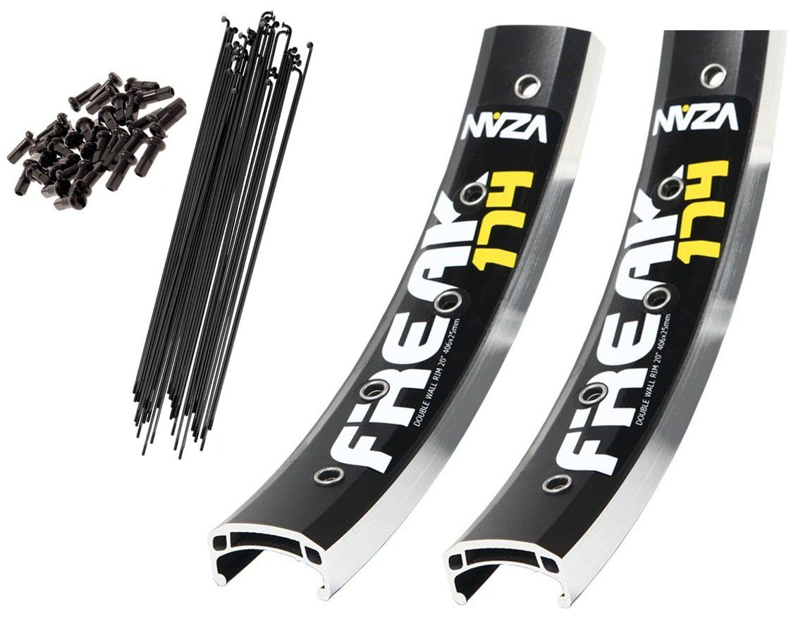 Kit Aro 20 Bmx Vzan Freak 174 mais Raios Preto Street Dirt
