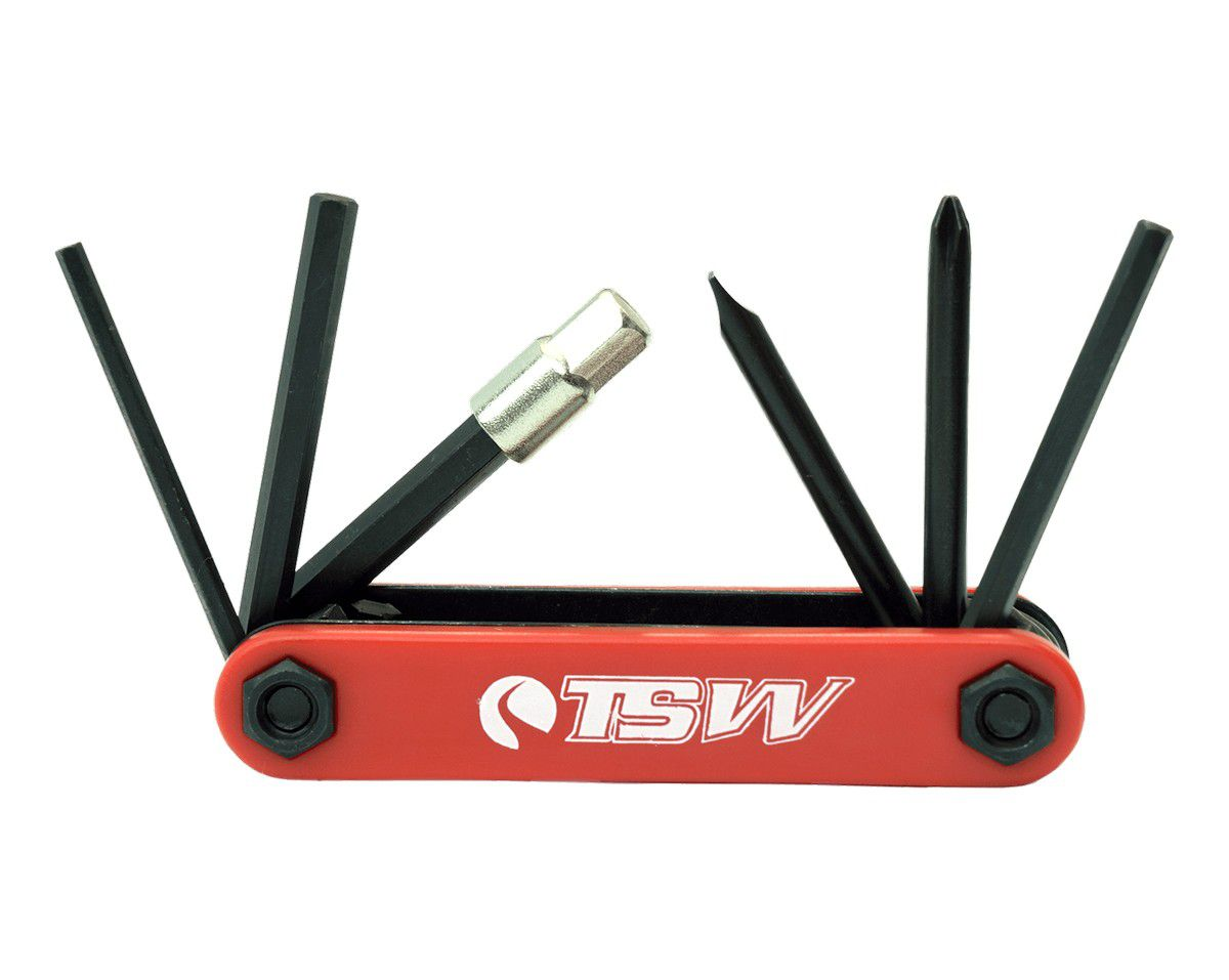 Kit Chave Canivete Ferramenta TSW  Para Bike - 7 funções