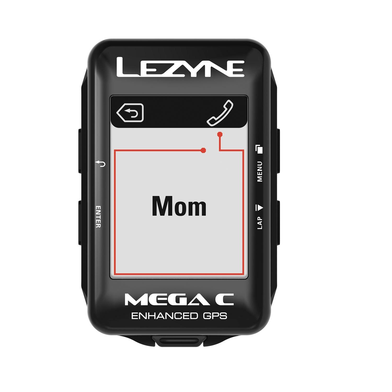 GPS Lezyne Mega C + Cinta Cardíaca + Cadência/Velocidade + Suporte Direct X-Lock