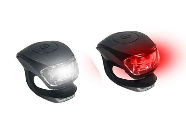 Kit Sinalizador LED para Bike Silicone Dianteiro e Traseiro