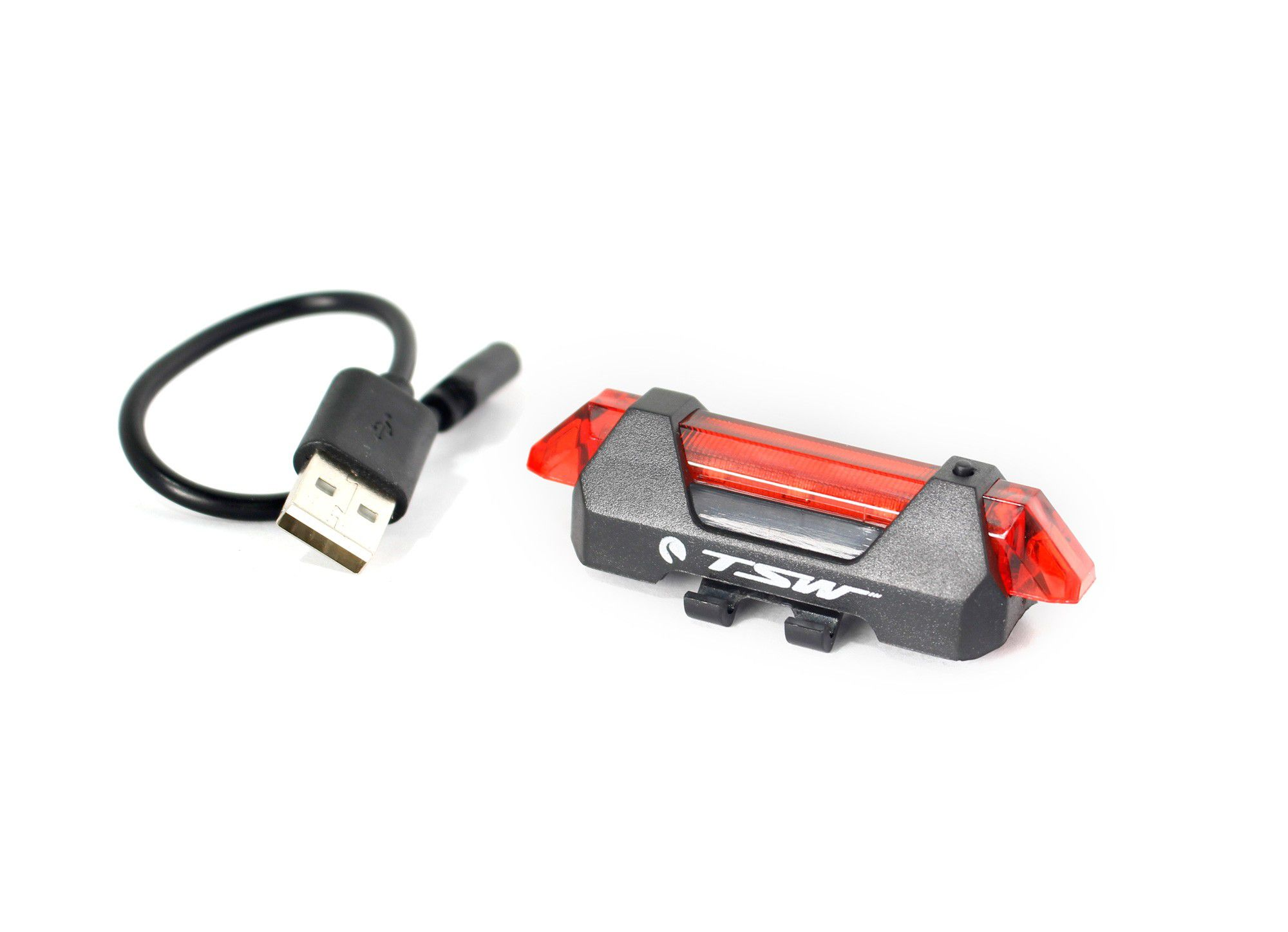 Sinalizador Traseiro Bike TSW LED 15 Lúmens carregador USB