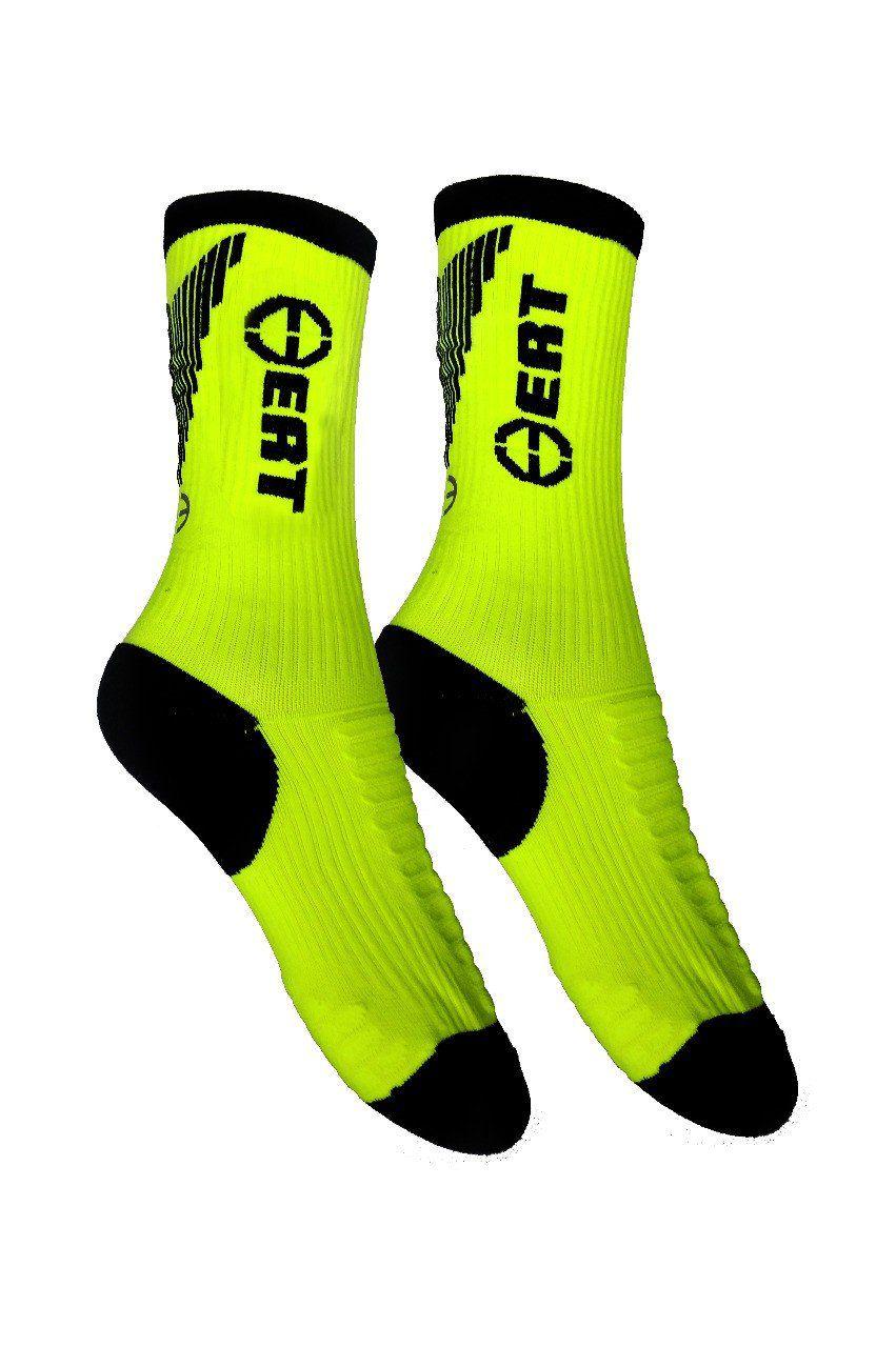 Meias de Compressão ERT Cycle Sport - Verde e Preto