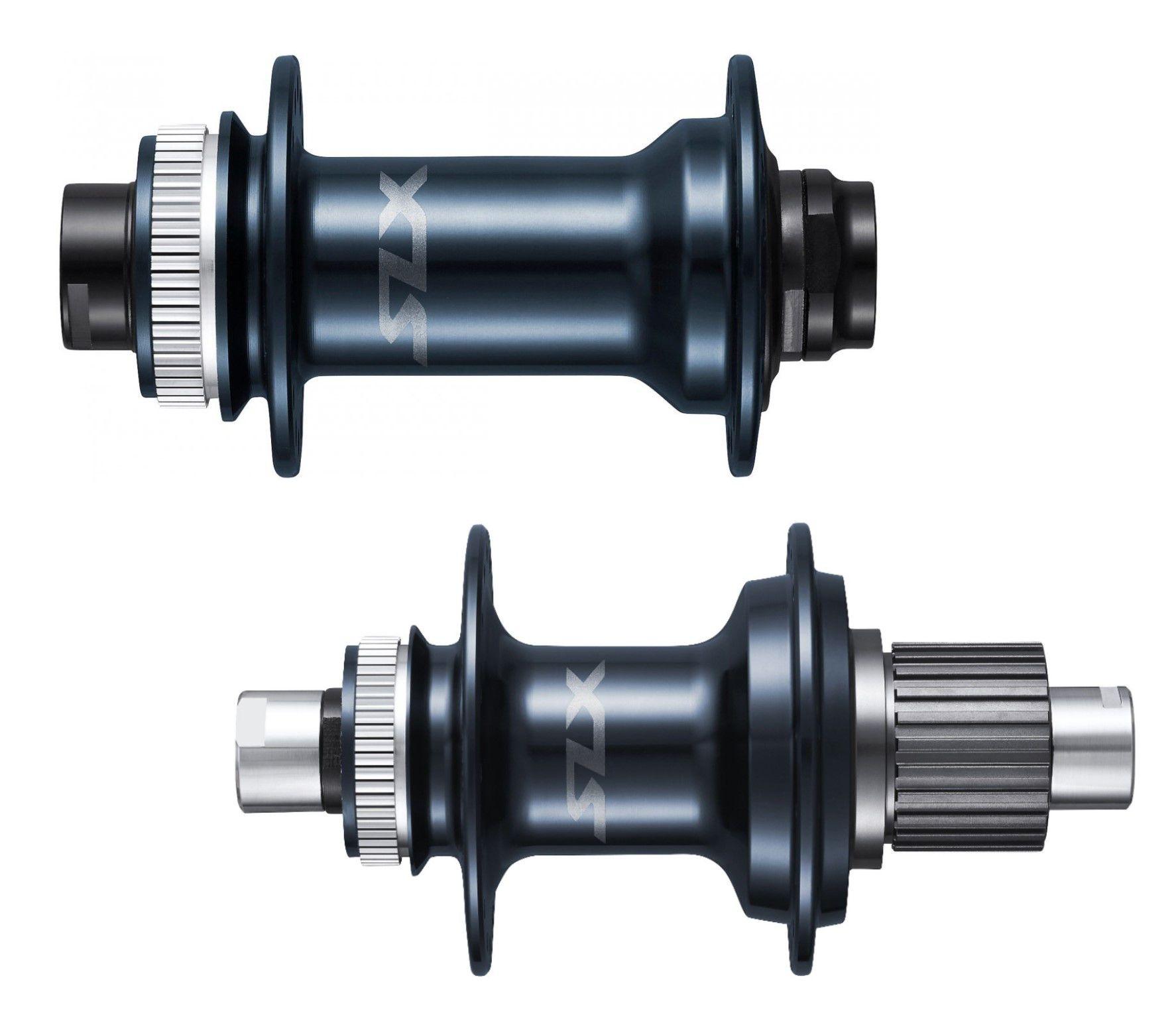 Par Cubos Shimano SLX 12V FH-M7110 28/32F Diant/Tras Micro Spline