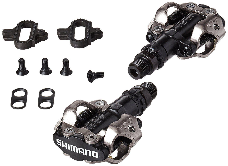 Pedal Shimano Clip PD M520 Preto Com Taquinhos Mtb Bike