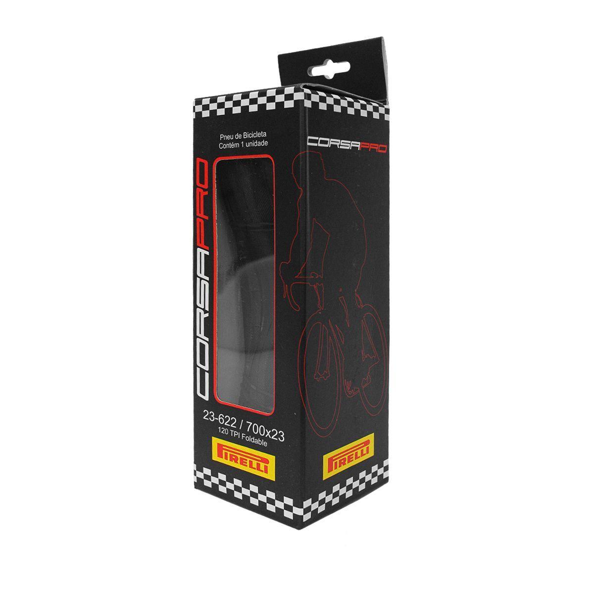 Pneu Speed Pirelli Corsa Pro Kevlar - 700x23 Preto