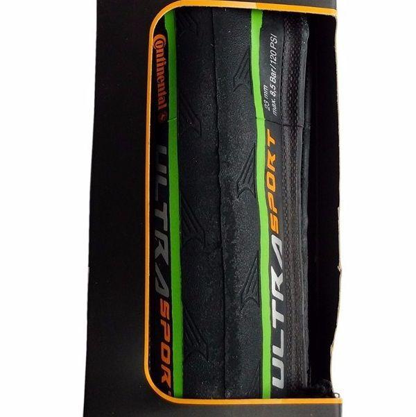 Pneu Speed Continental Ultra Sport II Kevlar 700x23c Pto/Verde