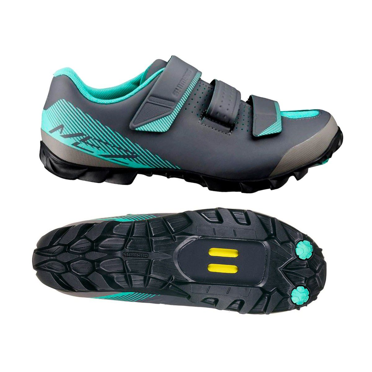 Sapatilha Shimano Feminina SH-ME200 3 Velcros mais pedal M520