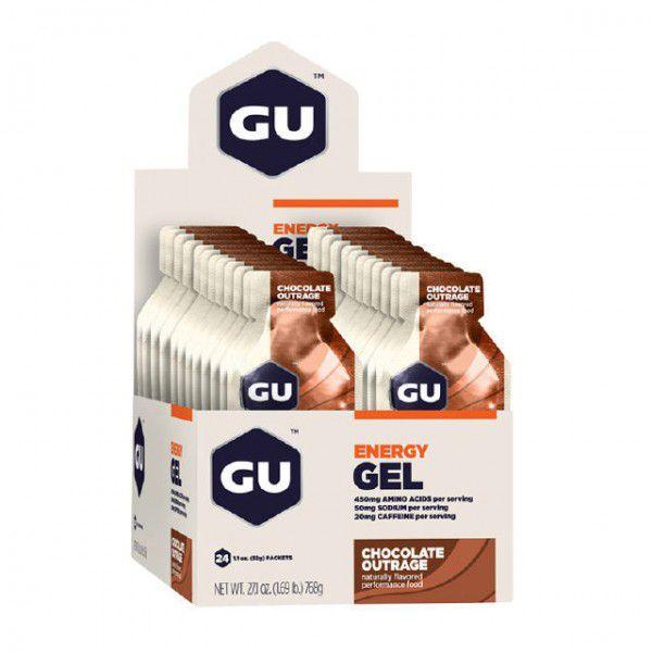 Suplemento Gu Energy GEL sabor Chocolate ( Caixa com 24 unidades )