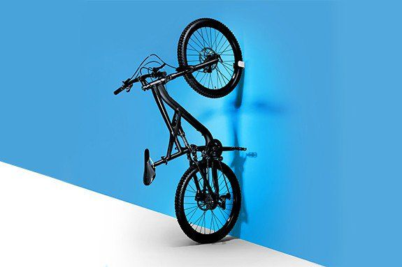 Suporte de Parede Bike MTB Hornit Clug  44 - 57 mm - Bco/Pto