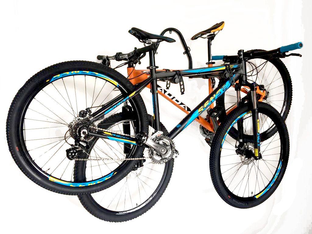 Suporte de Parede Altmayer AL-136 - Articulado Duplo 2 Bicicletas