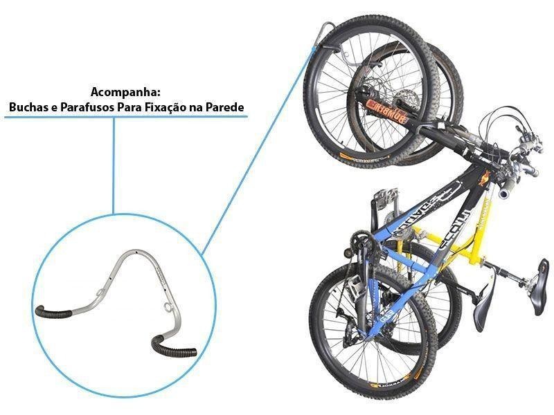 Suporte de Parede Vertical Duplo Para Bike Altmayer AL-70