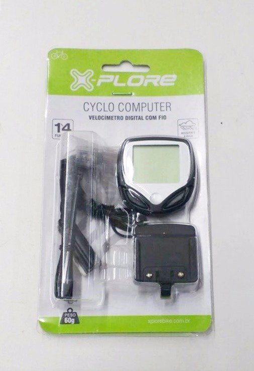 Velocímetro Digital X-Plore Cyclo Computer 14 Funções MTB Speed