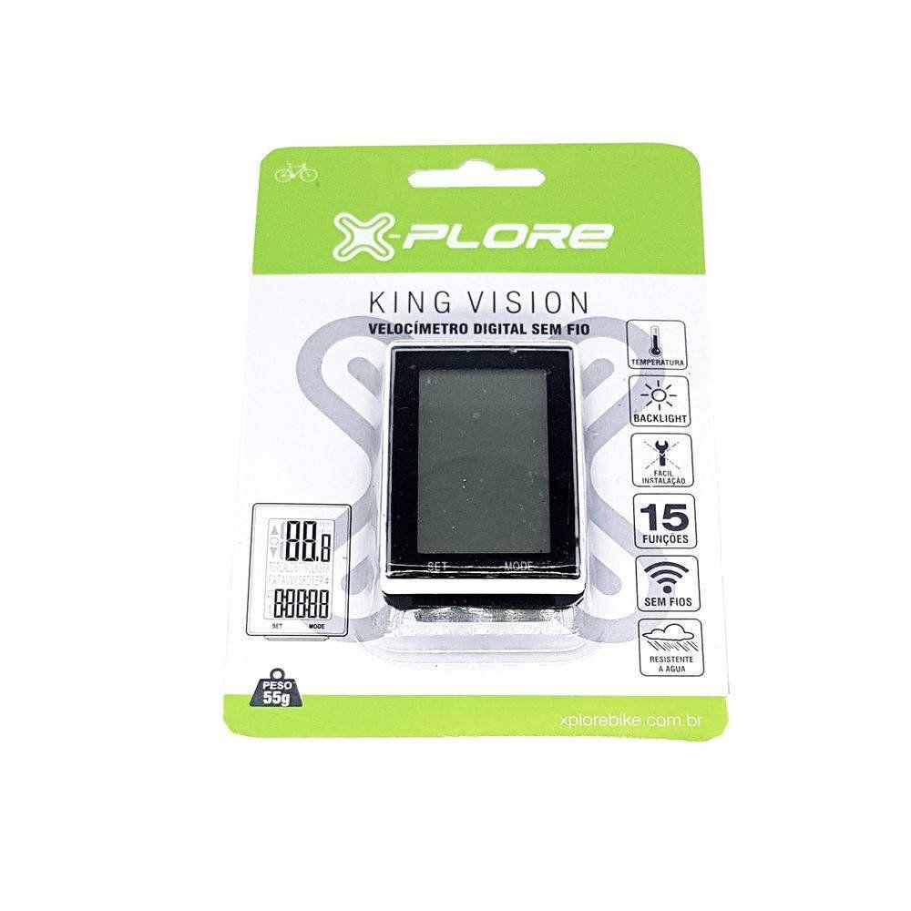 Velocímetro Sem Fio X-Plore King Vision - 15 Funções Ciclismo