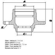 Cubo Roda Dianteiro Rolamento Zafira 1999 A 2003 Cd49