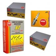 Kit Cabo Bobina E Vela De Ignicao - Fiat Palio 1998 A 2000 / Palio Weekend 1999 A 2000 / Siena 1998 A 1999 / Strada 1999 A 2000 - Kit00126
