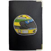 Porta Documento De Carro Moto Veiculo Carteira Couro Sintetico - Marca Alto Relevo - Divisórias Para Cartao Cnh Rg - Capacete