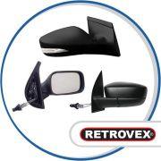 Retrovisor Com Controle Esquerdo Retro Fiat Uno 1985 A 1988