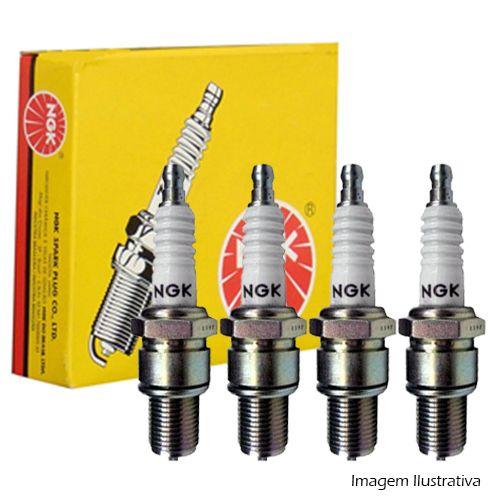 Jogo com 4 Velas Igniçao - Alfa 164 90 A 97 / Spider 96 A 98 / Cargo 05 A 06 / Family 05 A 06 / Utility 05 A 06 / Gm A10 79 A 88 / Gm A20 81 A 90 - Bpr6Es