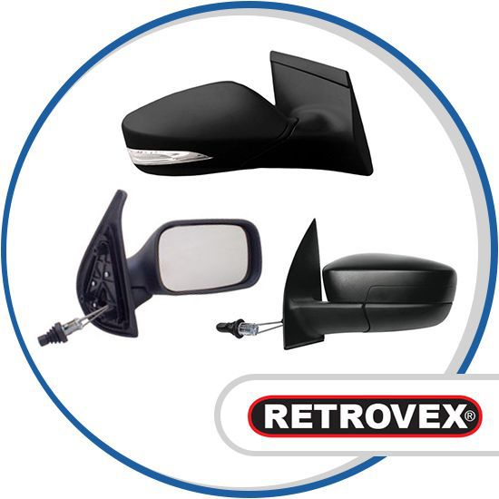 Retrovisor Com Controle Direito Retrovex Fiorino 1997 A 2011