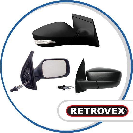 Retrovisor Sem Controle Direito Retrovex Fiesta 1996 A 2001