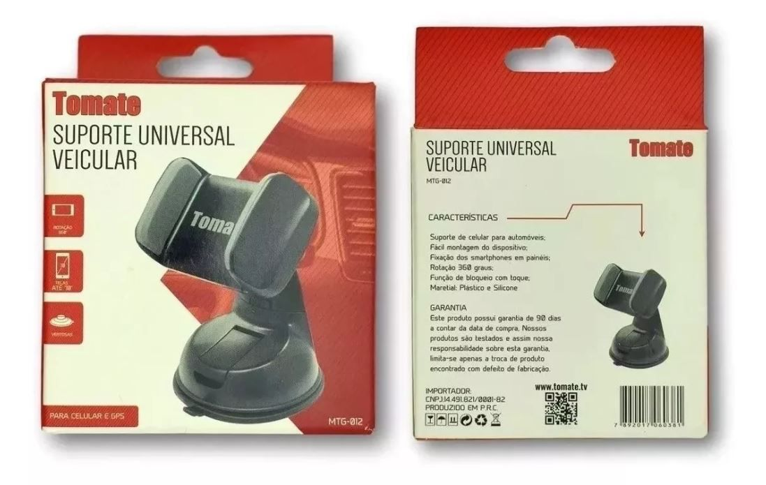 Suporte Universal Veicular Com Ventosa Rotação 360 Mtg 012