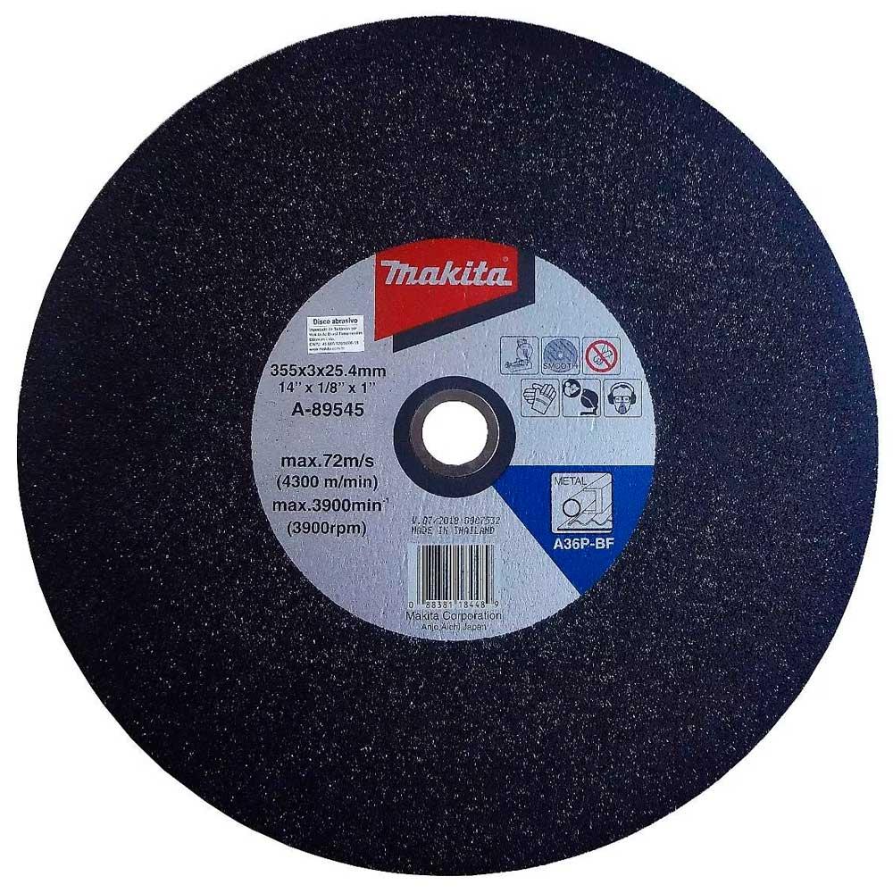 10 Disco De Corte Para Metal 355x3x25.4 Mm A-89545-5 MAKITA