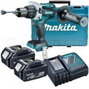 Parafusadeira e Furadeira de Impacto à Bateria 18V 5.0Ah  MAKITA-DHP481RTE