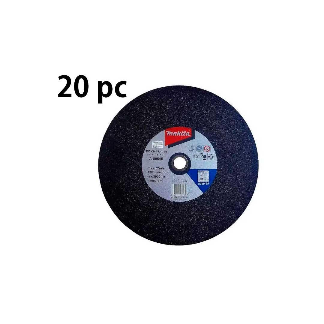 20 Disco De Corte Para Metal 355x3x25.4 Mm A-89545-5 MAKITA
