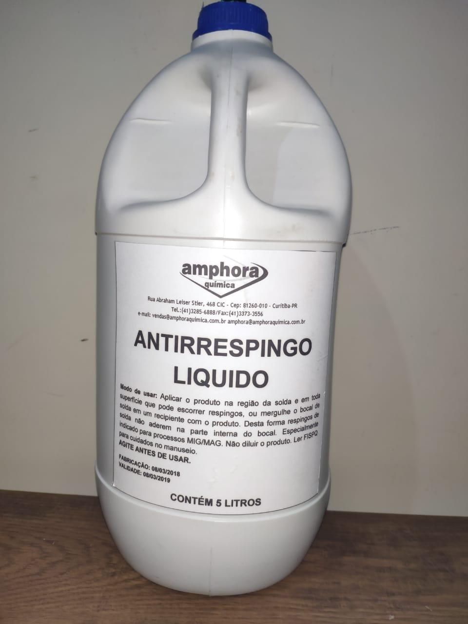 Antirespingo Liquido S/ Silicone 5 Lts Amphora