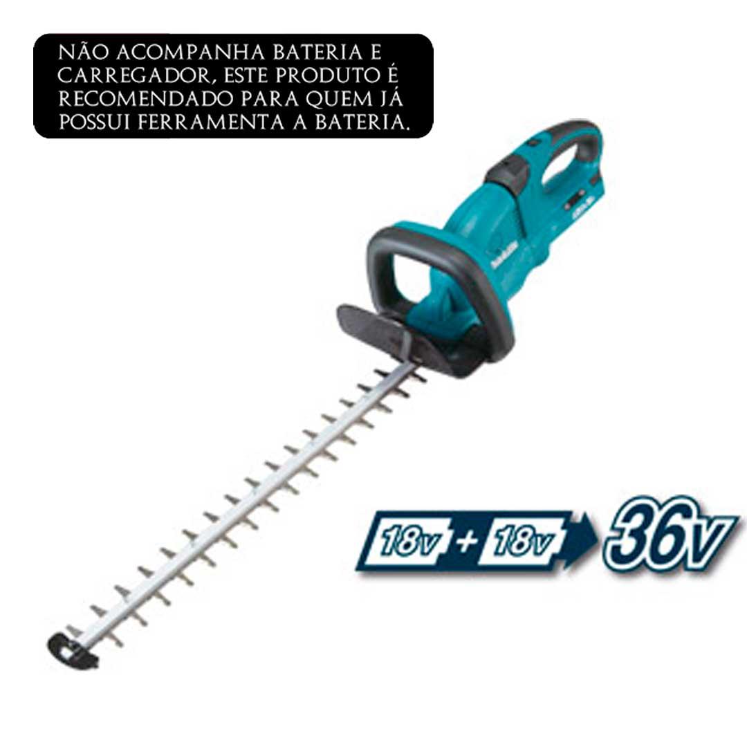 Aparador De Cerca Viva A Bateria 36v DUH651Z Makita
