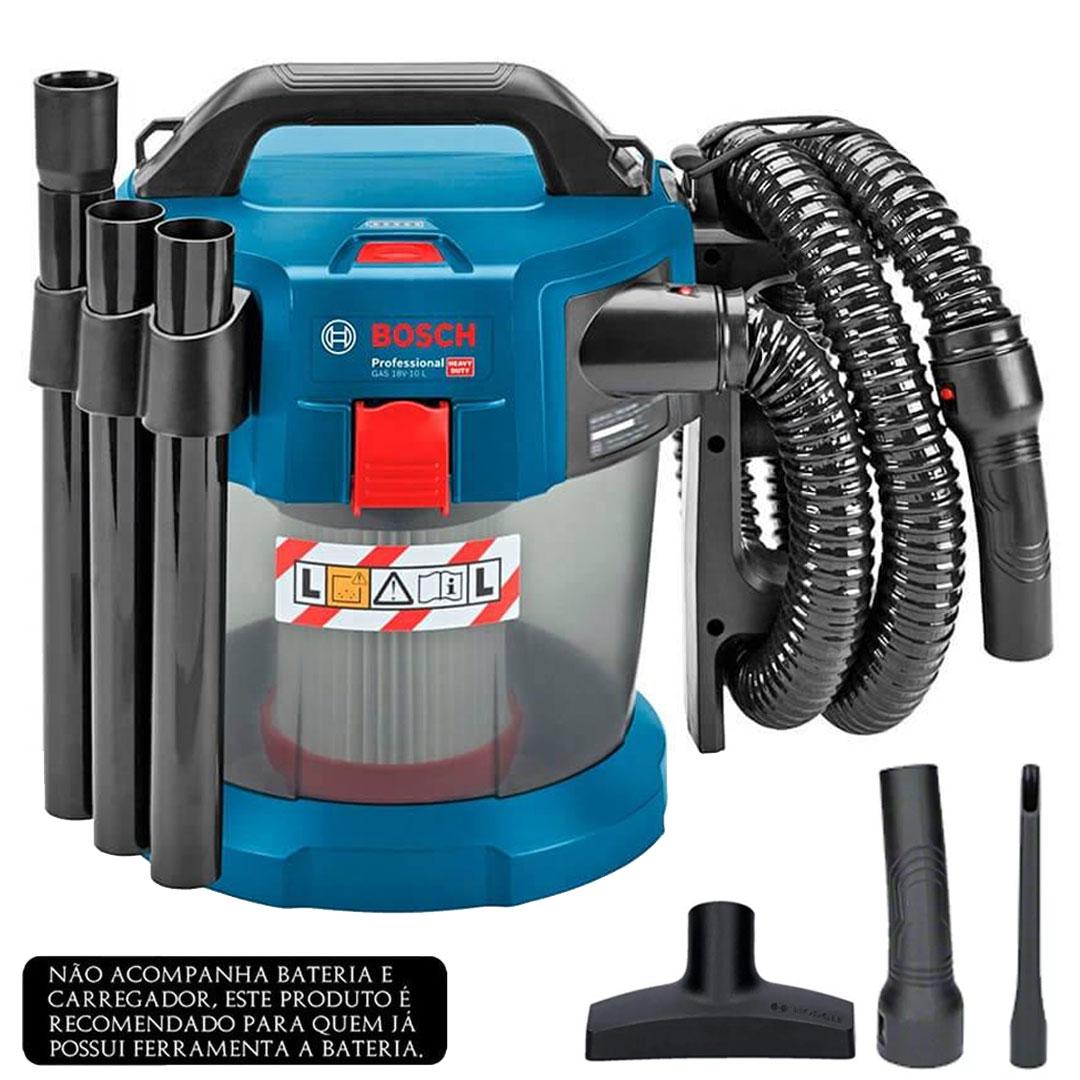 Aspirador a Bateria Para Água e Pó GAS 18V-10L BOSCH 06019C6300