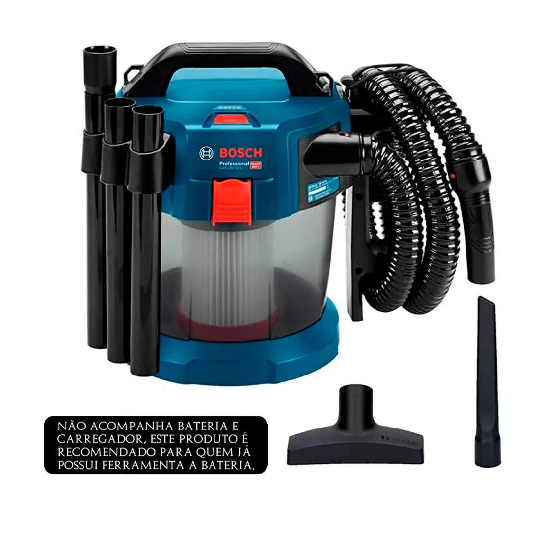 Aspirador a Bateria Para Água e Pó 18V GAS 18V-10L BOSCH 06019C6300