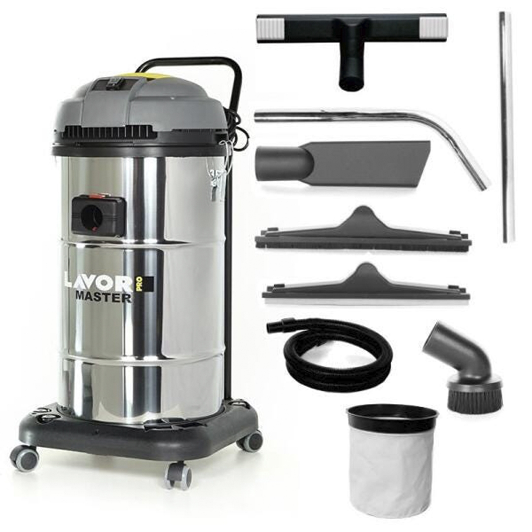 Aspirador Solidos e Liquidos 1400w 65L Lavor Master 1.65 Inox (220v)