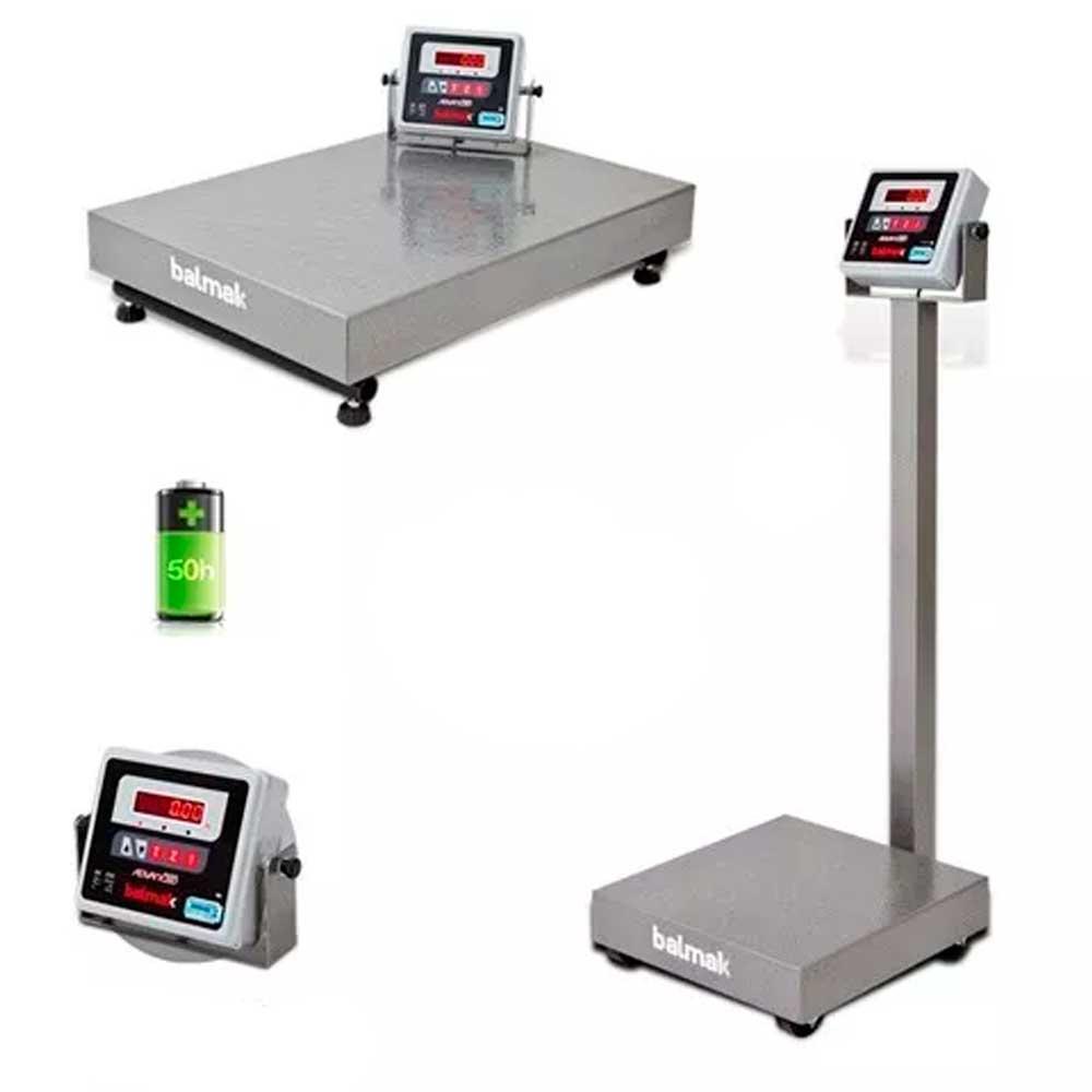 Balança Digital Tipo Plataforma Aço s/Coluna Balmak 500KG BK-500