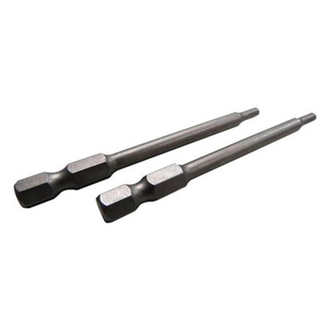 Pacote c/ 2 pcs Bits Allen Longo 4,0 X 75mm Makita 111-0010