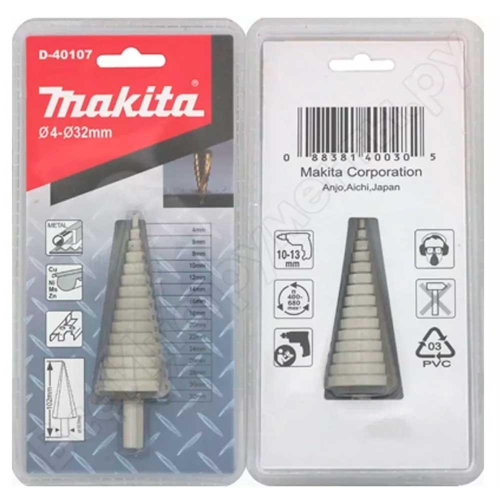 Broca Escalonada P/Metais de 4 a 32 MM D-40107 - Makita