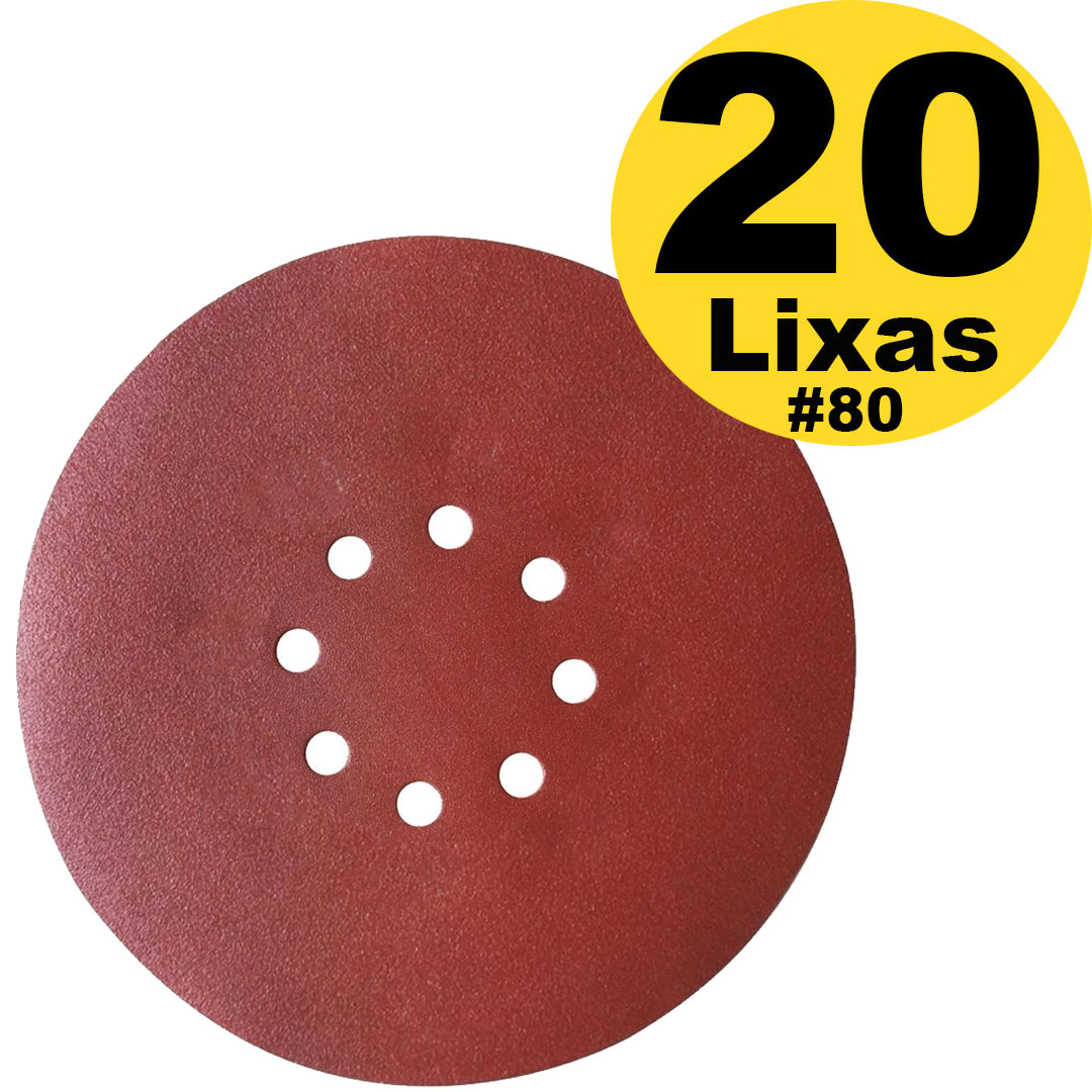 Caixa Disco de Lixa com Velcro 8