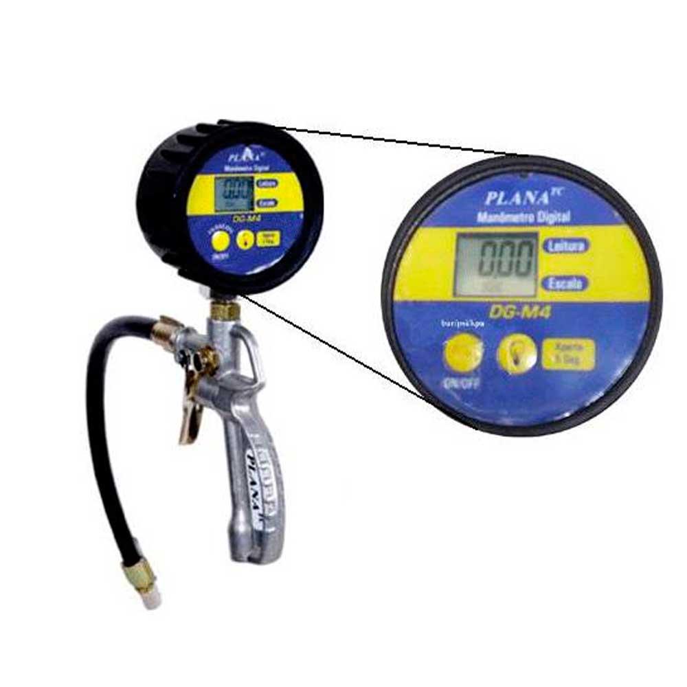 Calibrador Manual de Pneus com Manômetro Digital - PLANATC-CLBM-100