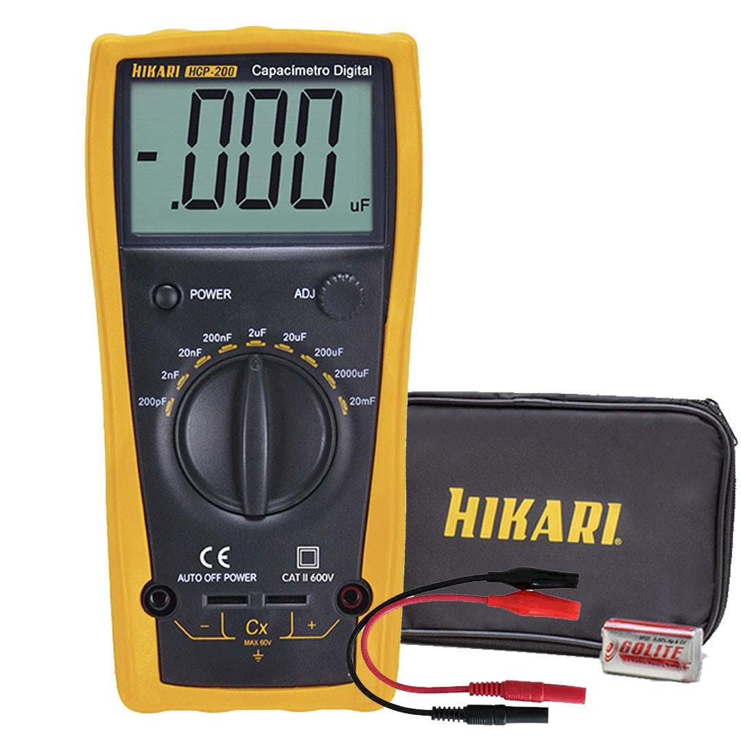 Capacímetro Digital HIKARI HCP-200 21N256 CAT II