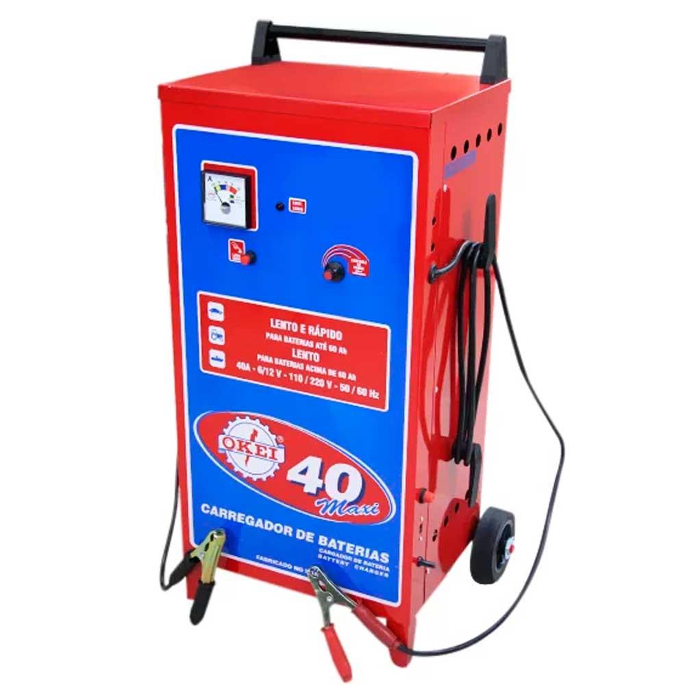 Carregador de Bateria 40 Maxi - 12 V -CB040 - OKEI