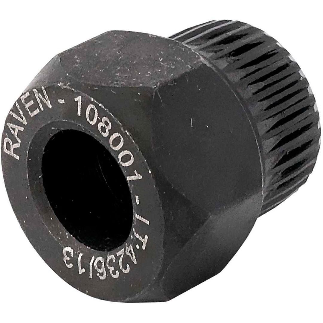 Soquete especial estriado com 33 dentes e sextavado de 22 mm p/ Polia Alternadores Raven 108001