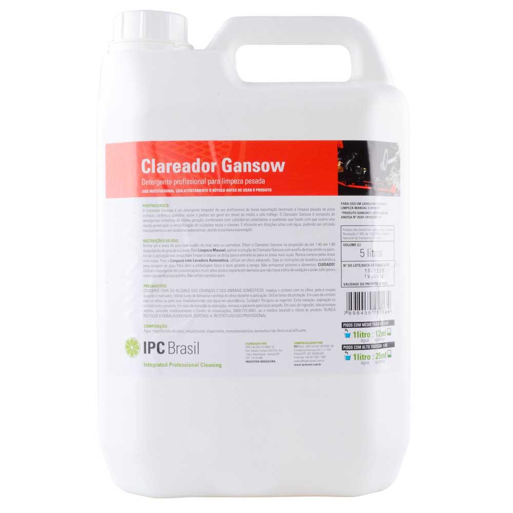 Clareador Gansow 5 Litros Limpeza Pesada Sbn61841 Ipc Soteco