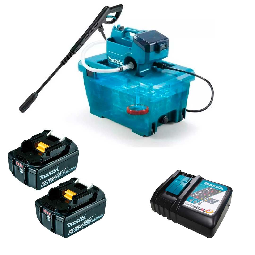 Combo Lavadora Alta Pressao A Bateria 36v DHW080ZK Completa Makita
