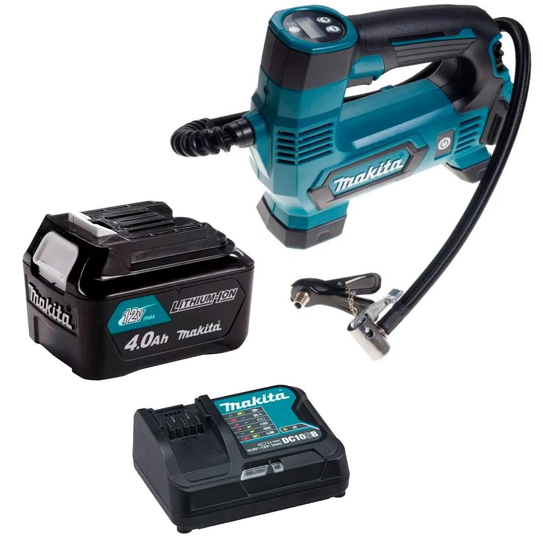 Compressor Ar Bateria MP100DZ +Carregador Rapido 12V + Bateria 12V 4AH BL1041 Makita
