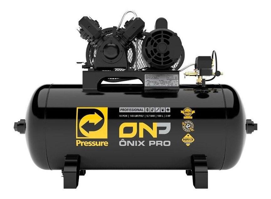 Compressor De Ar 10 Pés 140psi 100 L Pressure Onp 10/100 Vmn