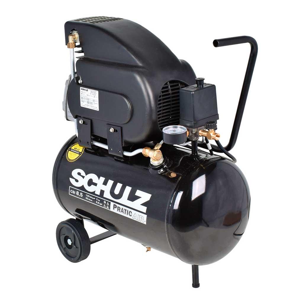 Motocompressor de Ar 8,2 Pés Pratic Air CSA 8,2/25 - 220V -  Schulz